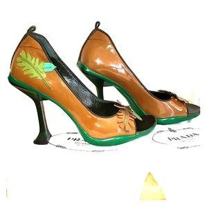 Collectible open-toe heels by Prada 👠.